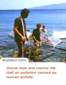 Ozone hole research
